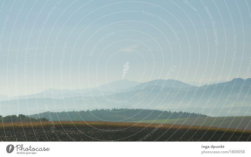 Nebelfelder Himmel Natur Pflanze Wasser Landschaft Wald Berge u. Gebirge Umwelt Herbst Feld Luft Schönes Wetter Hügel Landwirtschaft Jahreszeiten