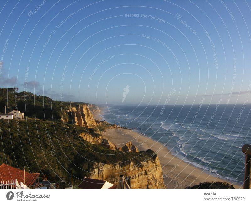 Romantischer Abend am Meer Wasser Sommer Strand Landschaft Gefühle Sand Wellen Schönes Wetter