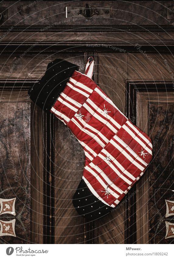 weihnachtszeit Strümpfe Adventskalender Schleife Kitsch Weihnachten & Advent Holz Glas gold Dekoration & Verzierung Weihnachtsdekoration Stern (Symbol)