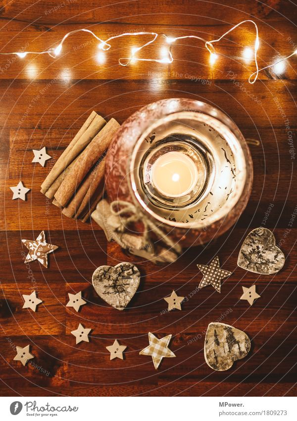 weihnachtsgrüße Herz Teelicht Schleife Kitsch Weihnachten & Advent Holz Glas gold Lichterkette Dekoration & Verzierung Weihnachtsdekoration Stern (Symbol) Zimt