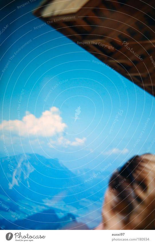 Liquide thoughts Wolken Einsamkeit Gefühle Denken Dach nachdenklich Gedanke liquide Berghütte