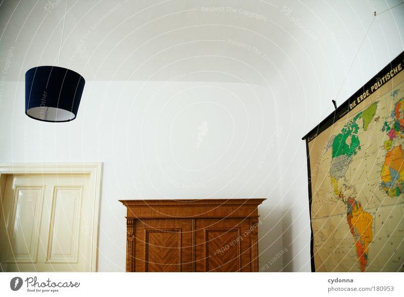 Weltanschauung ruhig Lampe Leben Wand träumen Traurigkeit Mauer Raum planen Wohnung Tür Design Perspektive Zukunft Dekoration & Verzierung Häusliches Leben