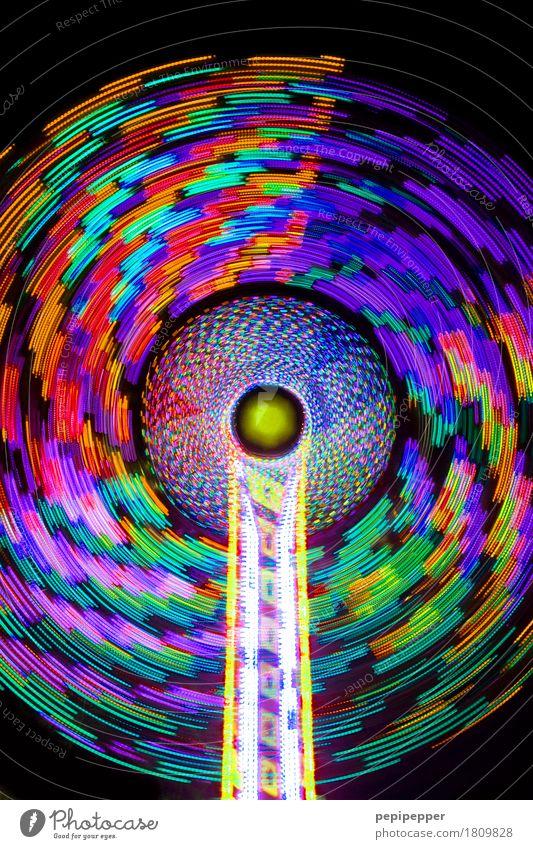 Karussell Freizeit & Hobby Nachtleben ausgehen Feste & Feiern Jahrmarkt Technik & Technologie Veranstaltung Kugel Bewegung drehen rund Geschwindigkeit