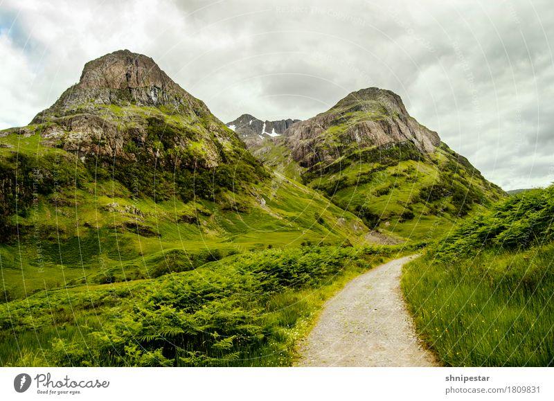 Glencoe at its best Natur Ferien & Urlaub & Reisen Pflanze Landschaft Wolken Ferne Berge u. Gebirge Umwelt Wege & Pfade Sport Gras Schnee Freiheit Tourismus