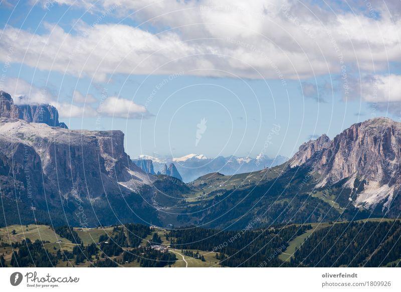 Dolomiten III Ferien & Urlaub & Reisen Ausflug Abenteuer Ferne Freiheit Expedition Berge u. Gebirge wandern Umwelt Natur Himmel Wolken Horizont Wetter