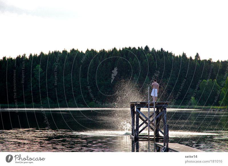 Griessee Himmel Natur Wasser Ferien & Urlaub & Reisen Sommer Freude Leben Freiheit Glück See Freizeit & Hobby Schwimmen & Baden Ausflug Wassertropfen Abenteuer