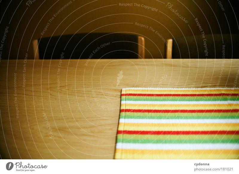 Wo bleibt mein Mittagessen? schön ruhig Leben träumen Linie warten Wohnung Design Zeit Tisch leer Perspektive ästhetisch Zukunft Küche Stuhl