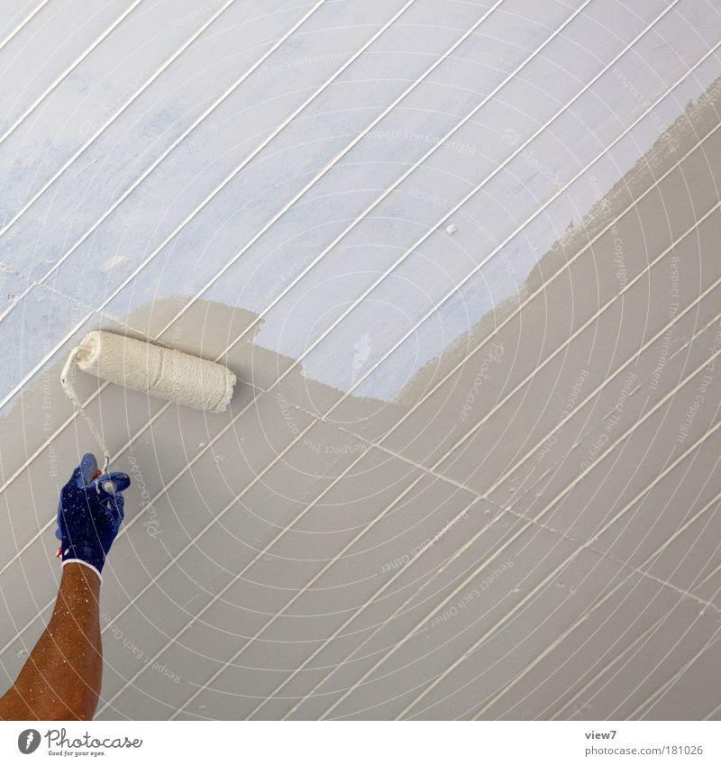 Maler Mann Hand weiß Ferne Farbe Arbeit & Erwerbstätigkeit Stein Erwachsene Arme Beton Ordnung Finger Beginn lernen authentisch Baustelle
