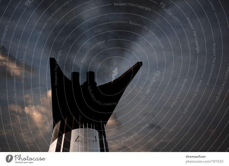 99 - das Traumschiff Meer Ferien & Urlaub & Reisen Wolken Ferne Freiheit träumen Wasserfahrzeug dreckig Insel Tourismus Wandel & Veränderung Wunsch Schifffahrt