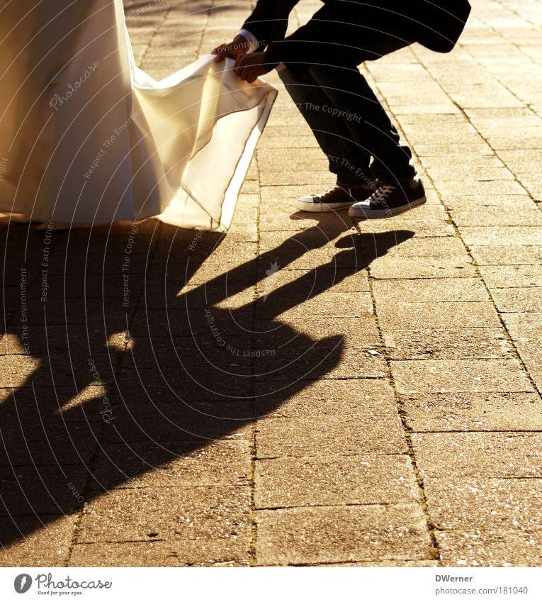 just married I elegant Glück schön Zufriedenheit Ferien & Urlaub & Reisen Feste & Feiern Tanzen Hochzeit maskulin Junge Frau Jugendliche Junger Mann Paar