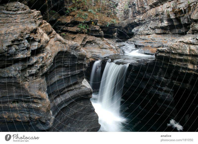 Natur weiß Wasser Erholung Umwelt natürlich braun Felsen einfach Frieden Gelassenheit Schlucht Wasserfall Brasilien Goiás