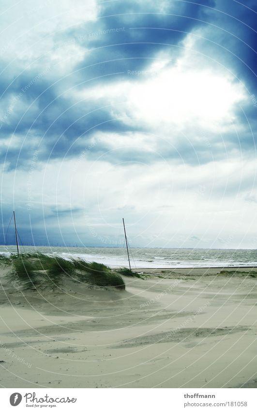 The Storm Is Not Over Now Natur Wasser Himmel Meer grün blau Strand Ferien & Urlaub & Reisen Wolken Leben kalt Denken Sand Landschaft Luft Wellen