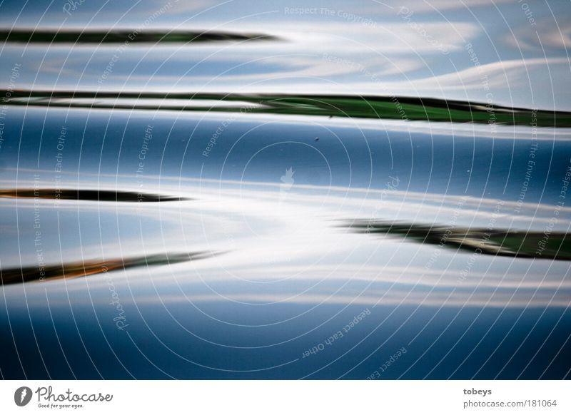 Teilung blau Wasser See Kunst modern Design Fluss Gemälde abstrakt Bach Surrealismus Kunstwerk schleimig Gewässer