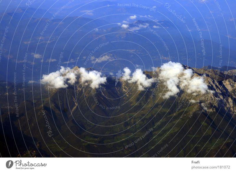 über den Wolken Himmel Landschaft Umwelt Wetter Wind Schönes Wetter