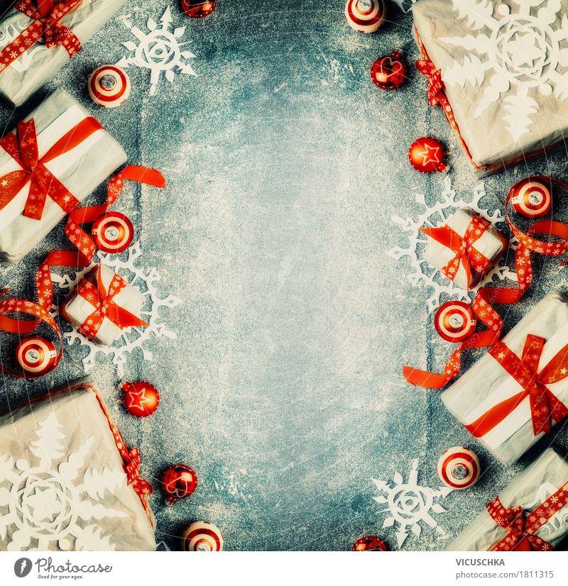 Weihnachten Hintergrund mit Geschenke kaufen Stil Design Freude Winter Innenarchitektur Dekoration & Verzierung Feste & Feiern Weihnachten & Advent Schleife