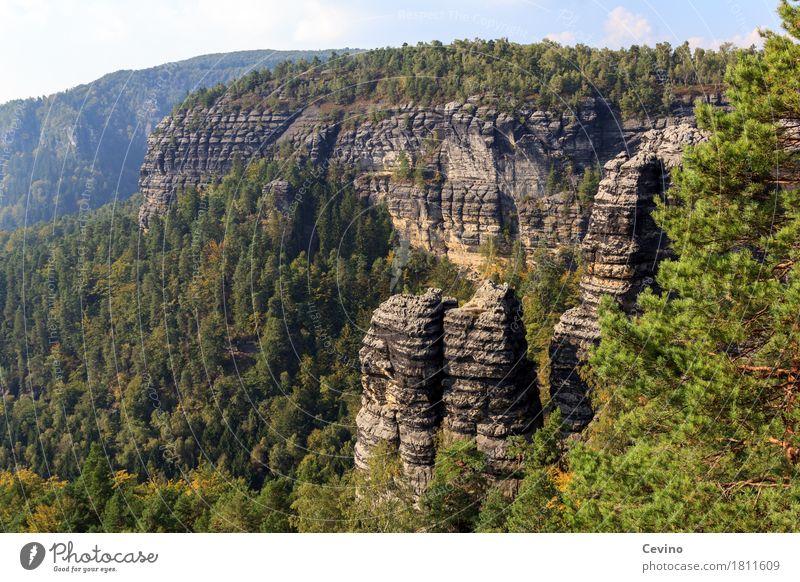 Czech Republic Himmel Natur Ferien & Urlaub & Reisen Sommer Sonne Landschaft Wolken ruhig Ferne Berge u. Gebirge Tourismus Felsen Ausflug wandern Europa