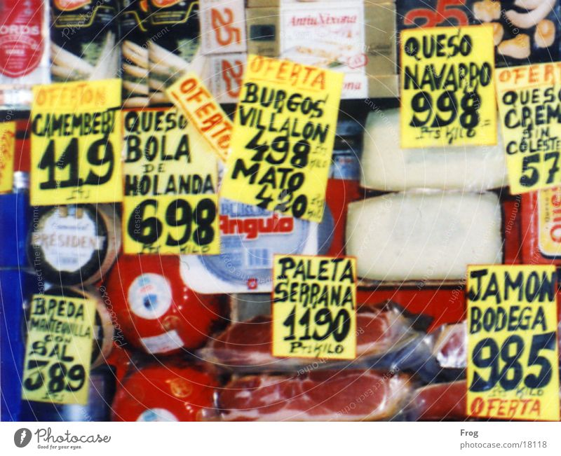 Sonderangebot Lebensmittel Angebot Schaufenster Spanien Ernährung