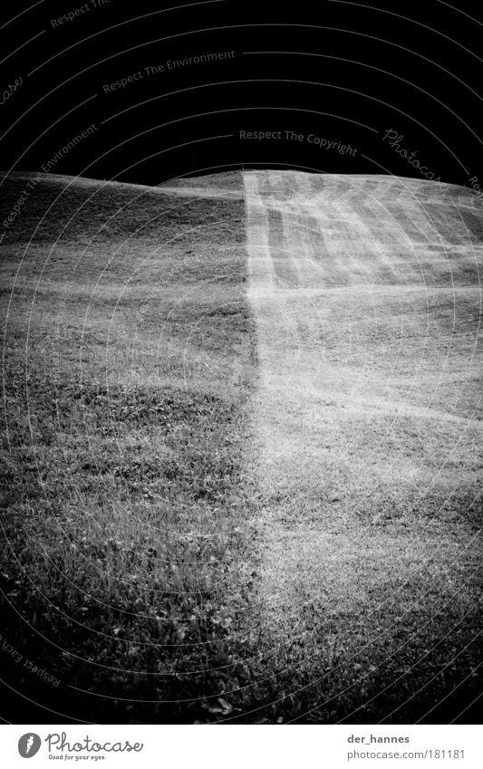 fußball Natur schwarz Umwelt Wiese Gras Linie außergewöhnlich Hügel Sportrasen Fußballplatz mähen
