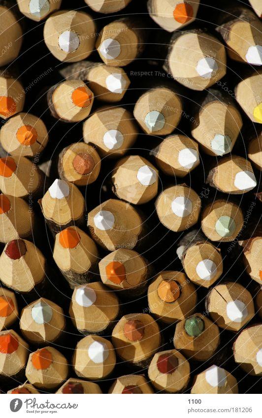Buntstifte von oben Natur Farbstoff schreiben zeichnen Medien Schreibstift Bleistift Farbstift Schreibwaren Schreibgerät Zeichenstift