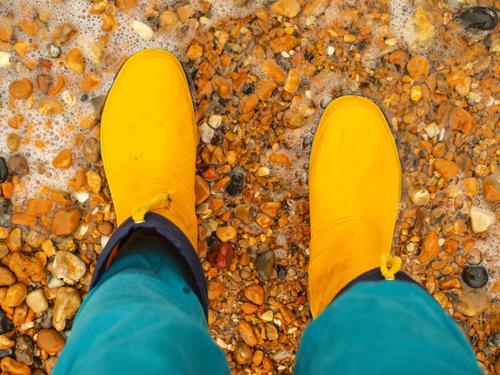 Regenwetter Ausflug Abenteuer Freiheit wandern Mensch Beine Fuß 1 Umwelt Natur Erde Wasser Herbst Wetter schlechtes Wetter Unwetter Küste Wege & Pfade entdecken