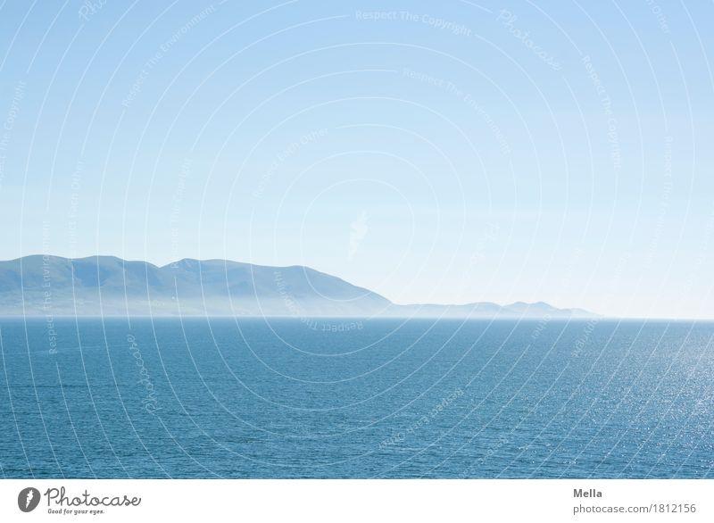 Ton in Ton | Ausruhen in blau Himmel Natur Ferien & Urlaub & Reisen Wasser Meer Erholung ruhig Ferne Berge u. Gebirge Umwelt natürlich Küste Freiheit Horizont
