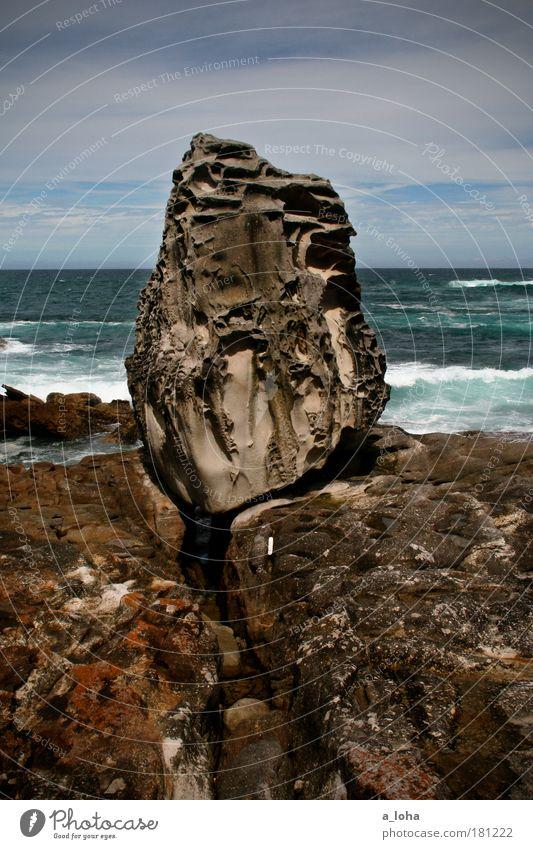 surf life saving australia Himmel Wasser Ferien & Urlaub & Reisen Meer Strand Wolken Ferne Landschaft Australien Küste Stein träumen Horizont Wellen Kraft groß
