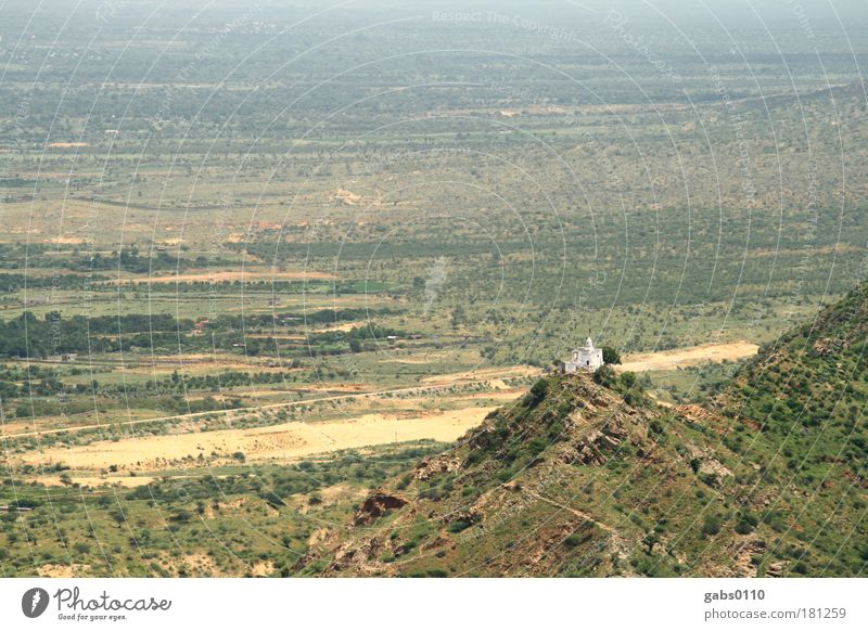 Tempel Natur alt grün blau Pflanze Ferne Wald Berge u. Gebirge Sand Landschaft Luft braun Feld Wetter Umwelt frei