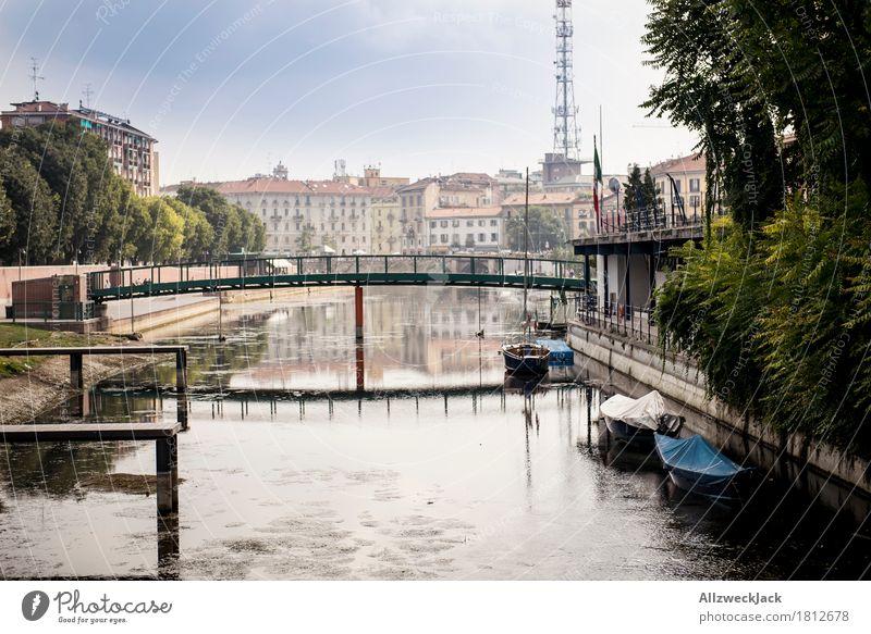 Milano Porto Genova I Mailand Italien Stadt Altstadt Haus Brücke Gebäude Architektur Ferien & Urlaub & Reisen Kanal Wasser Promenade Hafen Anlegestelle