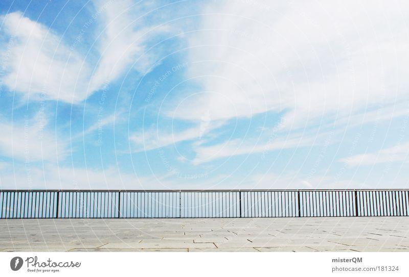 Sonnendeck. Ferien & Urlaub & Reisen Sommer Himmel (Jenseits) Wolken Ferne Erholung Freiheit Architektur Luft Wetter hoch Erfolg ästhetisch Brücke Zukunft Skyline