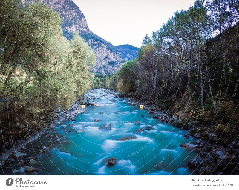 Go with the Flow Umwelt Natur Landschaft Pflanze Wasser Wellen Fluss Ötztaler Ache blau braun 2016 Sickline Österreich Burtea Fotografie Live Composite Farbfoto
