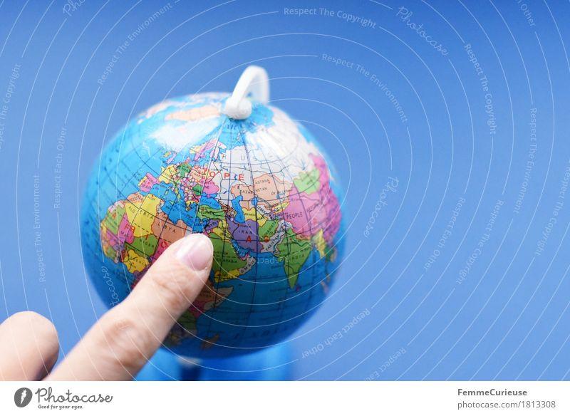 Globus_1813308 Erde Religion & Glaube Saudi-Arabien Libanon Jordanien Syrien Israel Jerusalem Topografie Schulunterricht lernen Zeigefinger zeigen blau global
