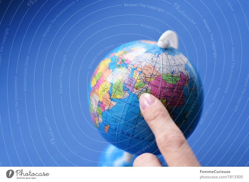 Globus_1813309 Klima Erde Pakistan Afghanistan Iran Asien Zeigefinger Topografie zeigen global Konflikt & Streit fremd Ferne Weltreise blau Schulunterricht