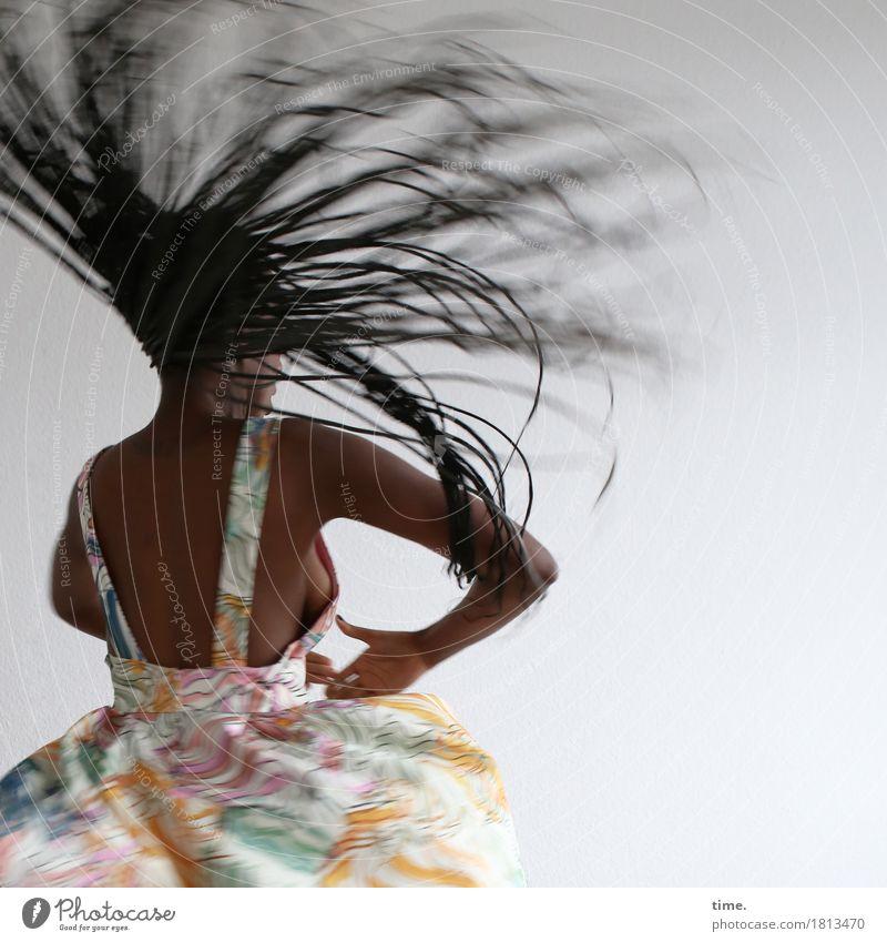 Tempo | Ecstasy Mensch Frau schön Freude Erwachsene Leben Bewegung feminin außergewöhnlich Stimmung wild elegant ästhetisch Kraft Kreativität Tanzen