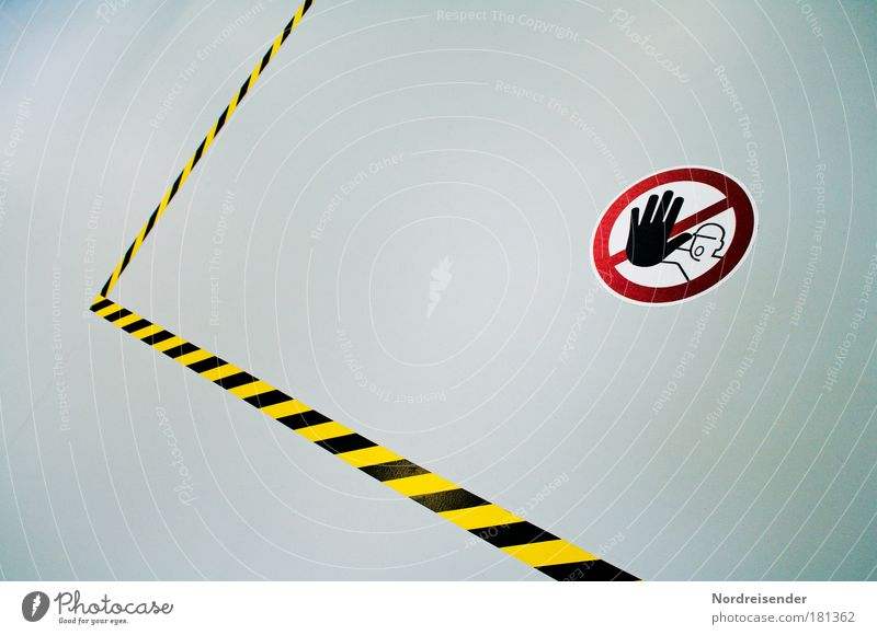 Du nicht! rot schwarz gelb Arbeit & Erwerbstätigkeit Linie hell Schilder & Markierungen Industrie Sicherheit neu Güterverkehr & Logistik Fabrik bedrohlich Schutz Sauberkeit Beruf