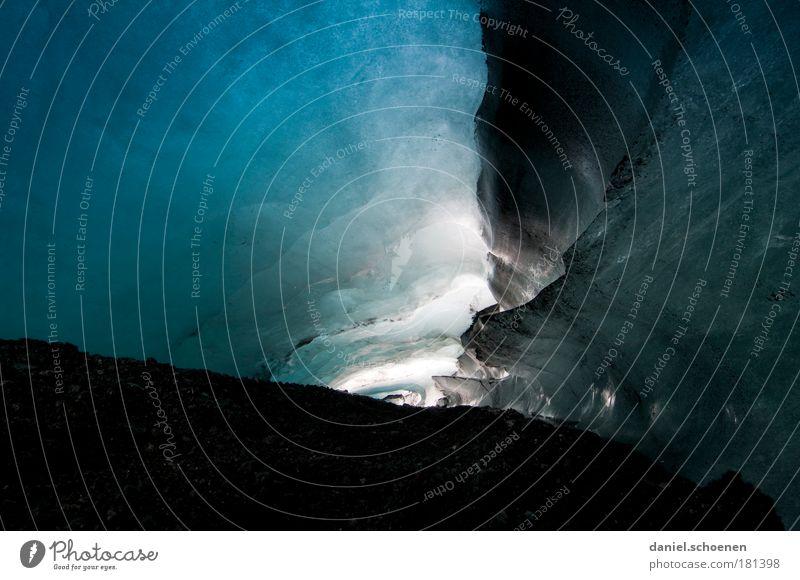 Gletscherhöhlen - Lebensgefahr ! Natur blau kalt Umwelt Wege & Pfade Eis Frost einzigartig Ziel Vergänglichkeit Neugier entdecken Island bizarr Surrealismus