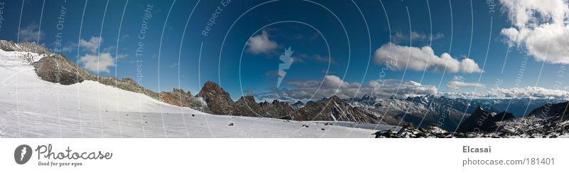 Am Glockner Himmel Natur Ferien & Urlaub & Reisen Winter Wolken Ferne Landschaft Schnee Berge u. Gebirge Freiheit Eis Tourismus Frost Alpen Schönes Wetter
