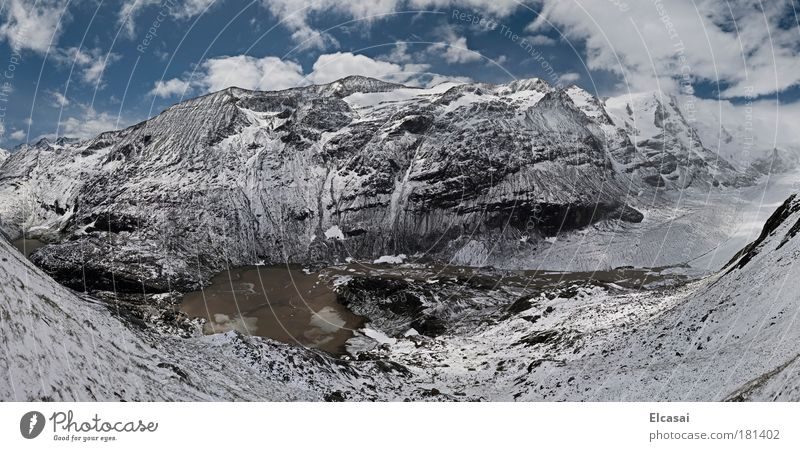 Franz-Josefs-Höhe Farbfoto Außenaufnahme Menschenleer Panorama (Aussicht) Weitwinkel Umwelt Natur Landschaft Luft Himmel Wolken Eis Frost Schnee Alpen