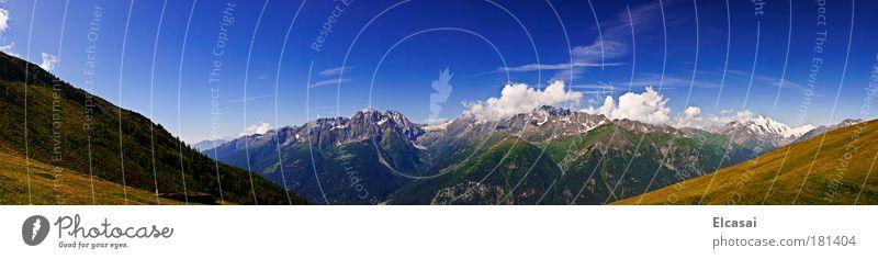 Am Sandkopf Farbfoto Außenaufnahme Menschenleer Tag Panorama (Aussicht) Weitwinkel Umwelt Natur Landschaft Erde Himmel Wolken Sonne Alpen Berge u. Gebirge