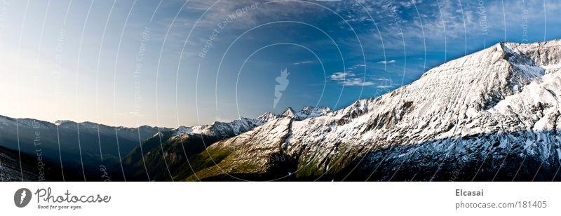 Erwachen Natur Landschaft Himmel Wolken Sonne Sonnenaufgang Sonnenuntergang Sonnenlicht Sommer Herbst Schönes Wetter Eis Frost Schnee Alpen Berge u. Gebirge