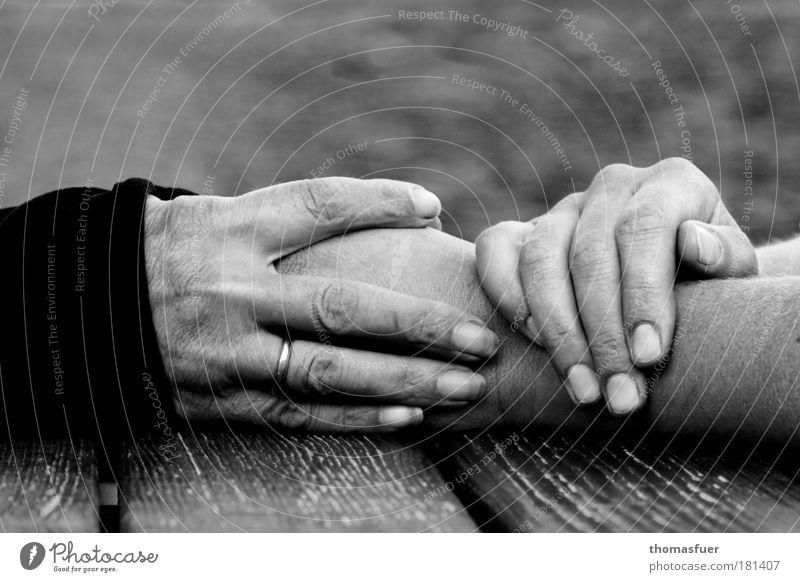 Berührung Senior Familie & Verwandtschaft Frau Hand Jugendliche Mensch ruhig Liebe feminin Gefühle Traurigkeit Wärme Freundschaft Stimmung Zusammensein