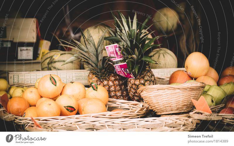Sommerfrüchte grün Gesunde Ernährung Essen Gesundheit natürlich Lebensmittel orange Frucht frisch Orange kaufen Landwirtschaft Tradition exotisch Markt