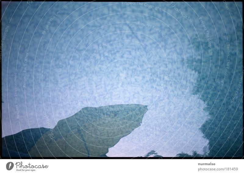 Im Abbild des Pools Wasser Ferien & Urlaub & Reisen Sommer Freude Erholung Leben Umwelt Kunst Freizeit & Hobby nass Boden Schwimmbad Spiegel Sonnenschirm