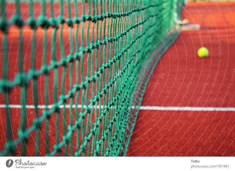 """tiebreak Farbfoto Außenaufnahme Menschenleer Tag Weitwinkel Freizeit & Hobby Spielen Tennis beobachten machen """"tennis tennisplatz ball spielfeld,"""" Tennisnetz"""