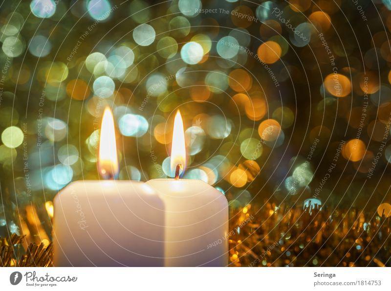 2. Advent Wohlgefühl ruhig Meditation Feste & Feiern Weihnachten & Advent Trauerfeier Beerdigung Taufe Kirche glänzend leuchten Licht Kerze Wachs Unschärfe