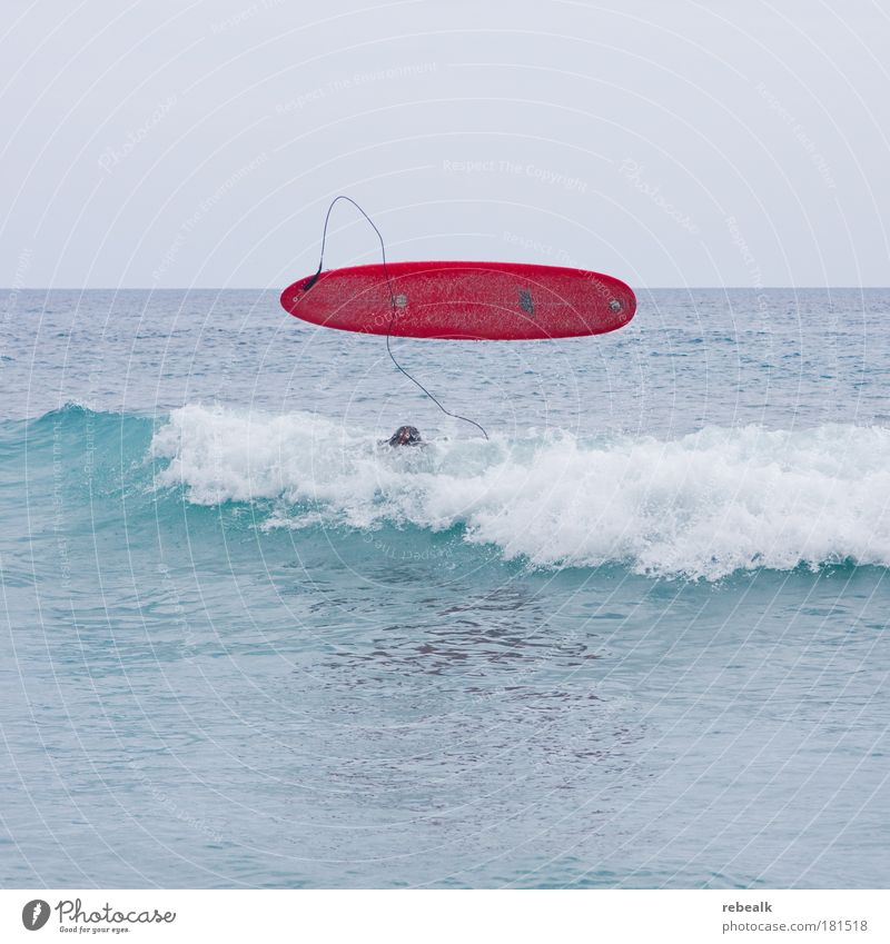 Fehlstart Wasser Meer rot Sommer Ferien & Urlaub & Reisen Sport Haare & Frisuren Kopf Zufriedenheit Wellen Lifestyle gefährlich Tourismus Freizeit & Hobby