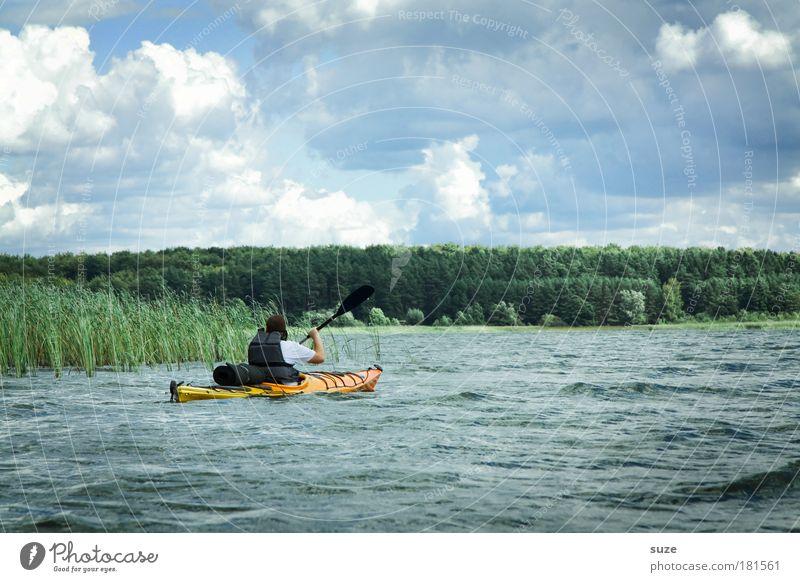 Feuchtgebiete Mensch Natur Wasser Pflanze Ferien & Urlaub & Reisen Wolken Leben Umwelt Landschaft Sport Bewegung See Freizeit & Hobby Ausflug Abenteuer Klima