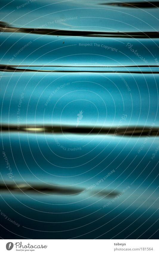 doubleline Kunstwerk Gemälde Wasser Wellen Küste Seeufer Bewegung elegant Unendlichkeit kalt Sauberkeit schleimig blau Design Kreativität modern stagnierend