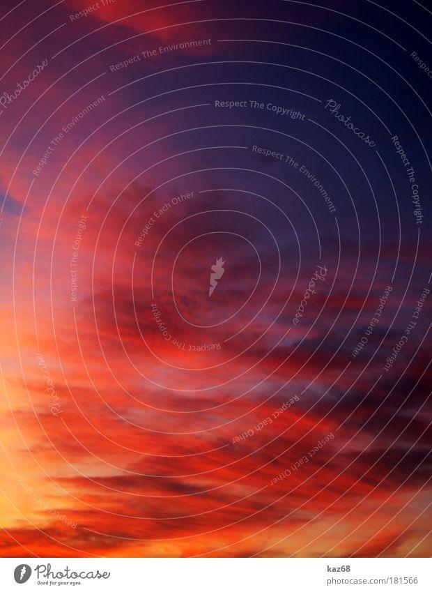 himmlisch Himmel Ferien & Urlaub & Reisen Himmel (Jenseits) Farbe Sommer Sonne rot Wolken Stimmung Horizont Wetter Wind Klima Feuer Brand Pause