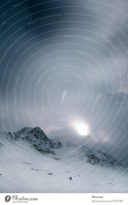 GIPFEL Natur Landschaft Wolken Winter kalt Berge u. Gebirge Schnee oben Felsen Eis Nebel Tourismus Gipfel Macht Frost Alpen