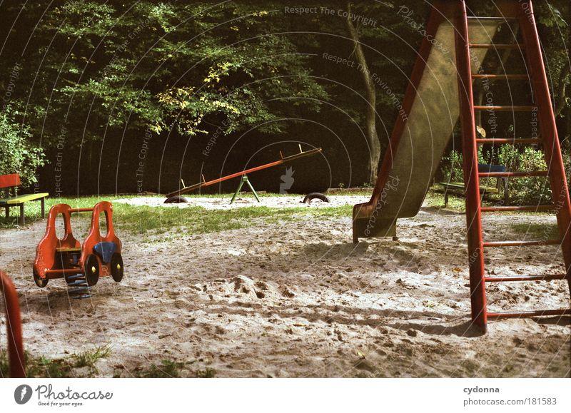Spielspaß Natur Baum Freude ruhig Umwelt Leben Spielen Sand Traurigkeit träumen Park Kindheit Energie Perspektive Zukunft Vergänglichkeit
